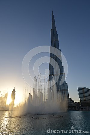 Sunset at Burj Khalifa