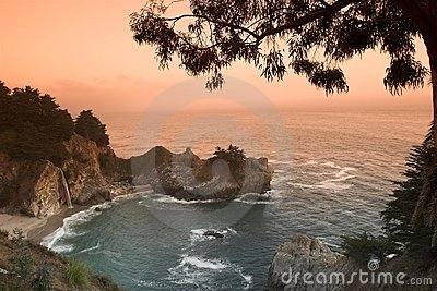 Sunset At The California Beach Royalty Free Stock Photography - Image: 679117