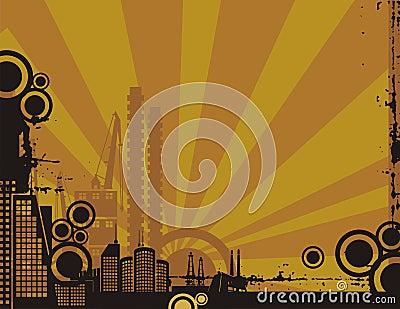 Sunset City Background Series