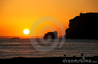 Sunset with cliffs