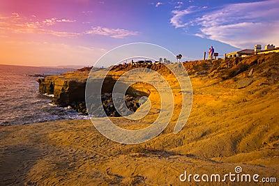 Sunset Cliffs CA Editorial Photography