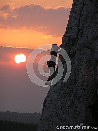Free Sunset Climb Stock Image - 1923931