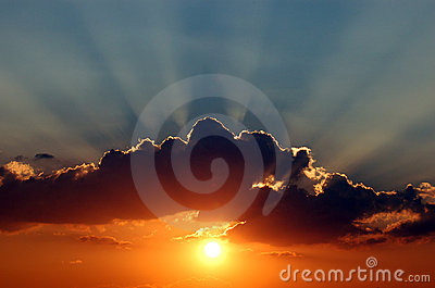 Sunset and cloud details