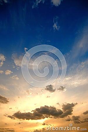Sunset. clouds