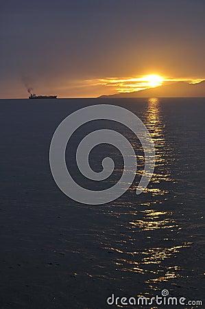 Sunset clouds, the evening glow, sunset glow, sun,