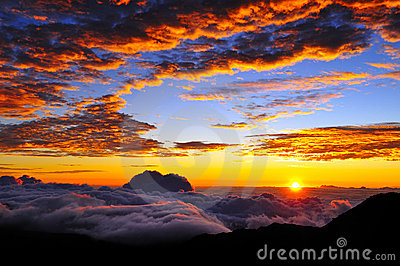 Sunset and cloudscape