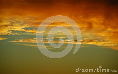 Sunset copper yellow gold