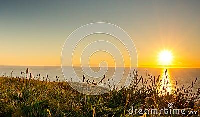 Sunset cornwall