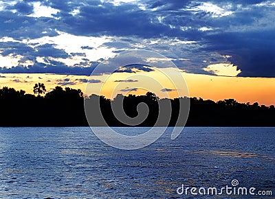 Sunset cruise over Zambezi