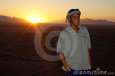 Sunset in the desert Editorial Photography