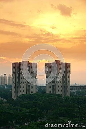 Sunset in Donwtown Jakarta
