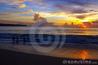Sunset at Dreamland, Bali