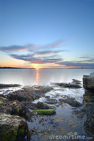 Sunset at Dublin Bay