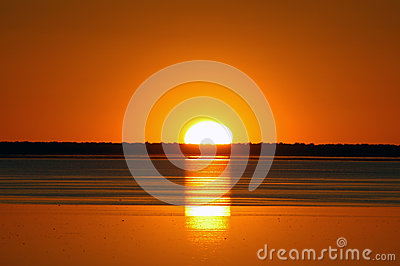 Sunset Etosha Pan