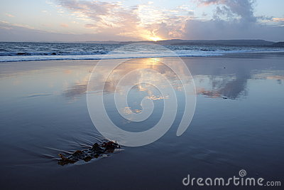 Sunset on Exmouth Beach