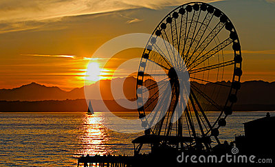 Sunset Ferris Wheel