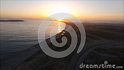 Sunset in Figueira da Foz stock video footage