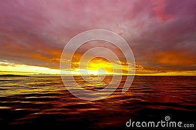 Sunset at Fiji