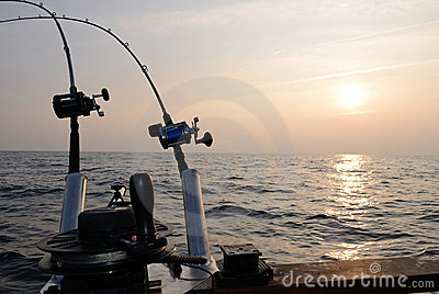 Sunset Fishing Royalty Free Stock Photos - Image: 22055808