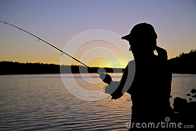 Sunset Fishing Close Up