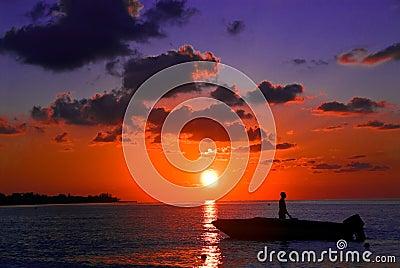 Sunset fishing, Jamaica, Negril
