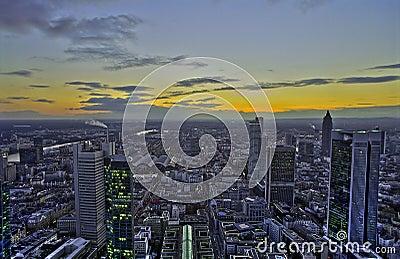Sunset in Frankfurt, HDR
