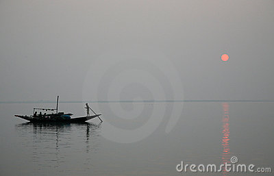 Sunset, Ganges delta