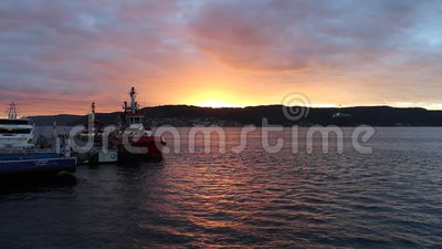 Sunset at Gelibolu. The Dardanelles and the sunset at Gelibolu stock footage