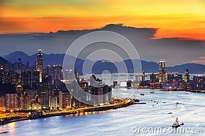 Sunset glow Editorial Stock Image
