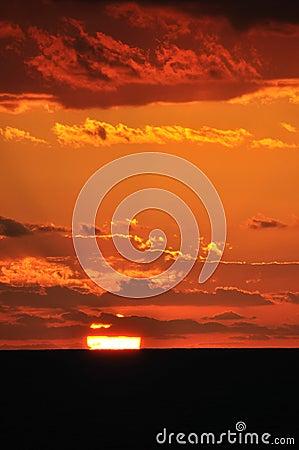 Sunset glow,