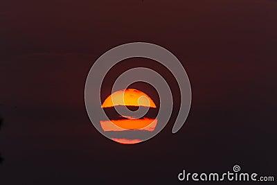 Sunset Glow Horizontal Cloud Lines