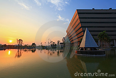 Sunset at Government Complex Editorial Stock Photo