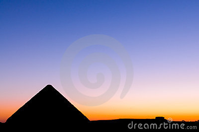 Sunset at Great Pyramid of Giza