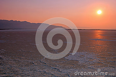 Sunset, Great Salt Lake, Utah.