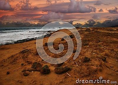 Sunset of Green Sand beach