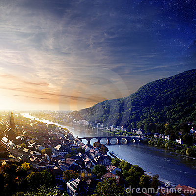 Sunset in Heidelberg