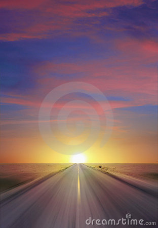 Free Sunset Highway Stock Photography - 2519902