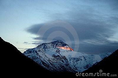 Sunset Himalaya Mount Everest