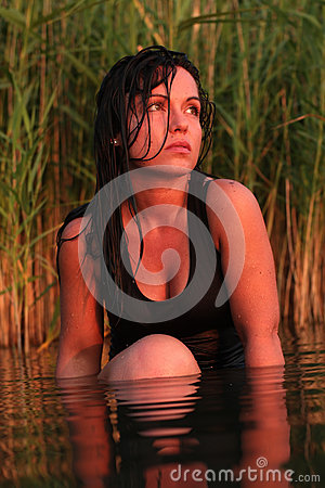 Sunset holiday at the lake