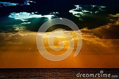 Sunset at Honeymoon Island, Florida