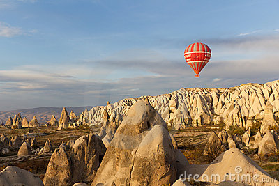 Sunset Hot Air Balloon Ride in Cappadocia, Turkey Editorial Image