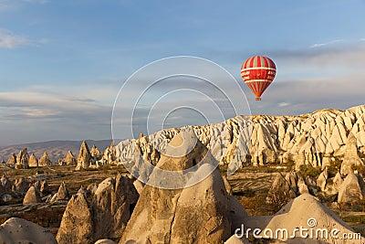 Sunset Hot Air Balloon Ride in Cappadocia, Turkey Editorial Image