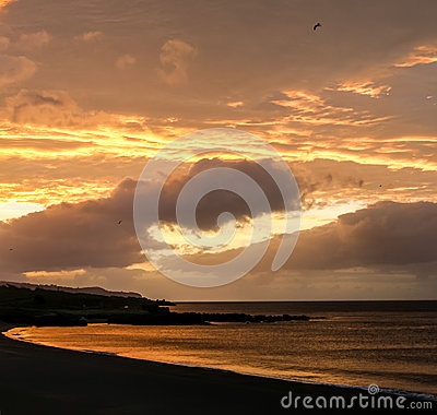 Free Sunset In Azores Stock Photo - 85629410