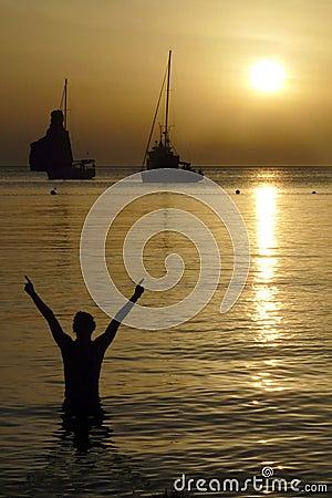 Free Sunset In Ibiza, Balearic Islands, Spain Royalty Free Stock Photo - 30046575