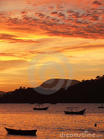 Free Sunset In Porto Belo Stock Photography - 1568852