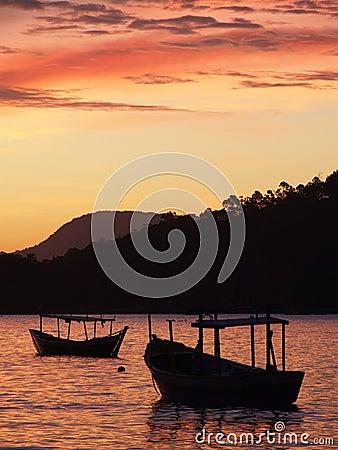 Free Sunset In Porto Belo Royalty Free Stock Photo - 1570415