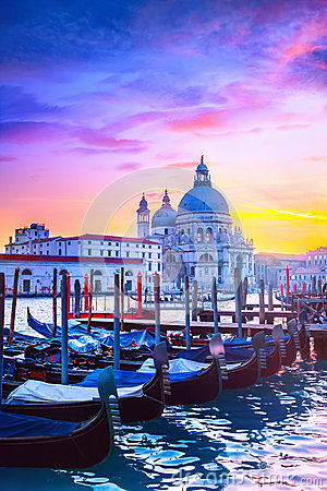 Free Sunset In Venice Royalty Free Stock Photos - 65530108