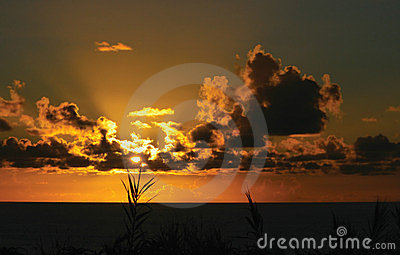 Sunset on a Island