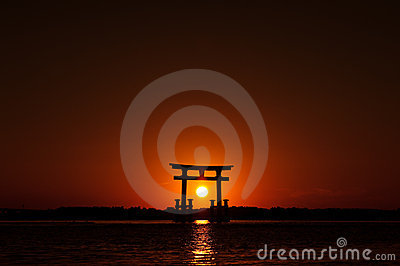 Sunset Japan Gate 01