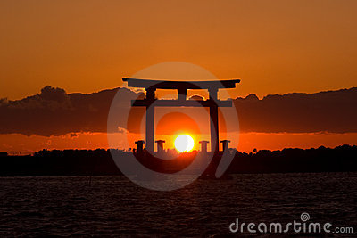 Sunset Japan Gate